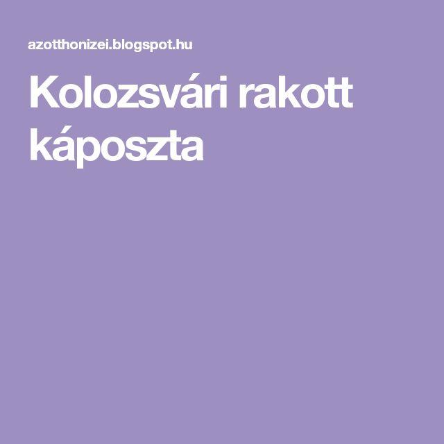 Kolozsvári rakott káposzta