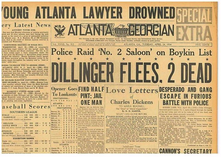 4-1934 April 24 DILLINGER flee Bohemia Lodge 2 Dead Melvin Purvis FBI Hoover B16