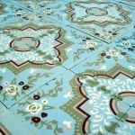 17.5m2 / 190 sqft floral themed antique ceramic encaustic floor c.1905 - The Antique Floor Company