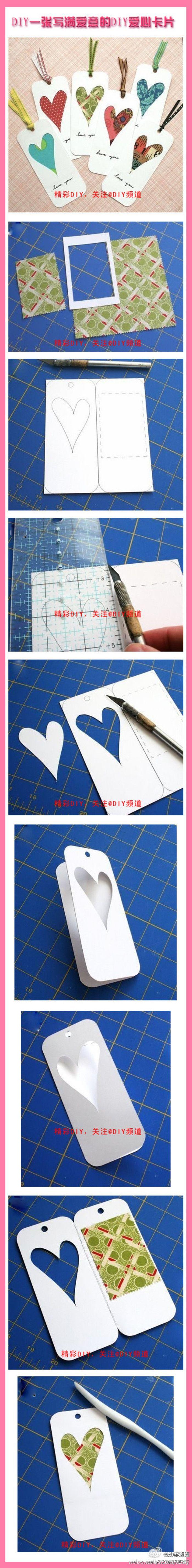 【写满爱意的DIY爱心卡片】DIY一张爱的卡片,写上爱的呢喃,送给心爱的ta。如此简单的过程,就能表达出爱意,何乐而不为呢?