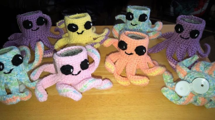 Crochet Octopus Hand Sanitizer Case Crochet Octopus Hand