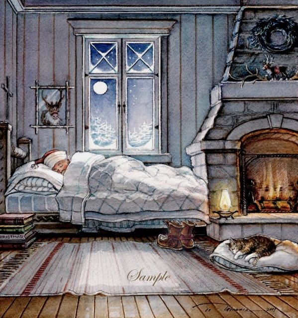 Art Country Canada -TRISHA ROMANCE Dreaming of Christmas Limited edition Giclee on Canvas and Limited edition print Print