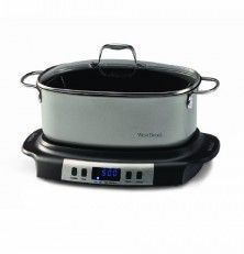 West Bend 84966 Versatility Oval-Shaped 6-Quart Programmable Slow Cooker