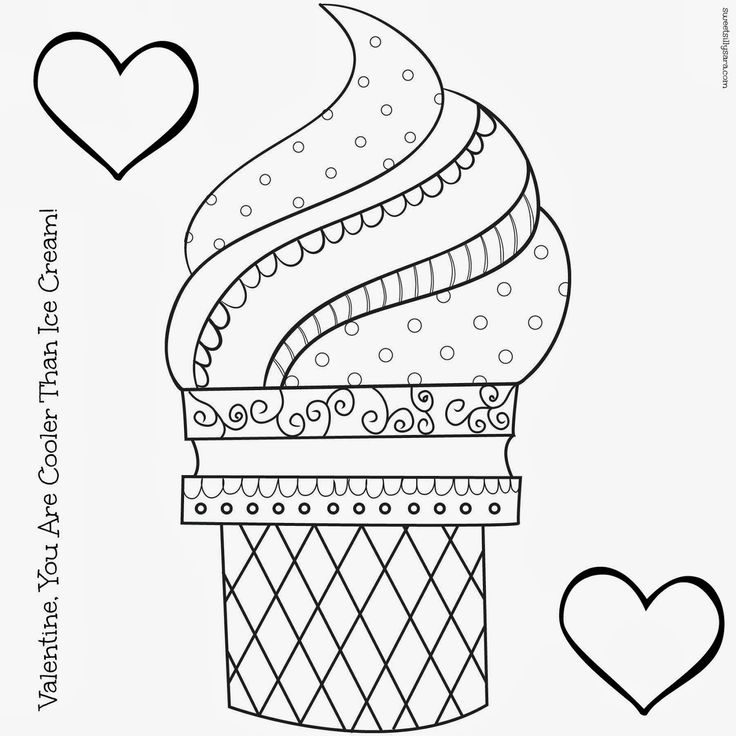 Ice Cream Coloring Pages For Kids Printable