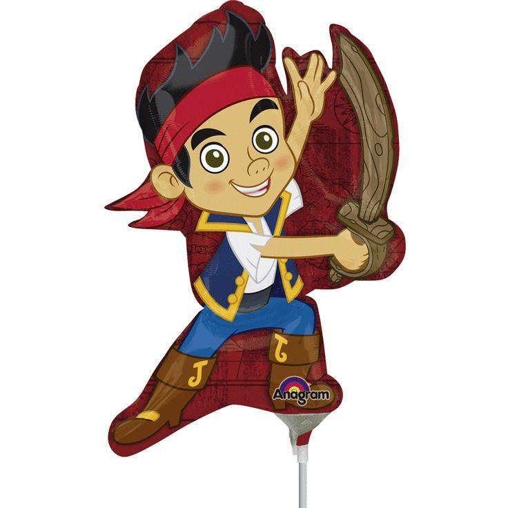 Ballon sur tige Jake le pirate - Annikids