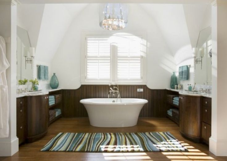 Striped Large Bathroom Rug