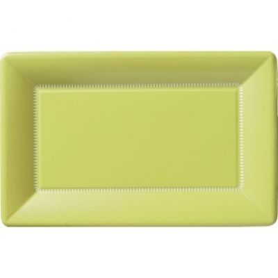 These lime green rectangular paper dinner #plates are perfect for a #Spring bash and  sc 1 st  Pinterest & 28 best P2O: Patterned Tableware images on Pinterest | Dishes ...