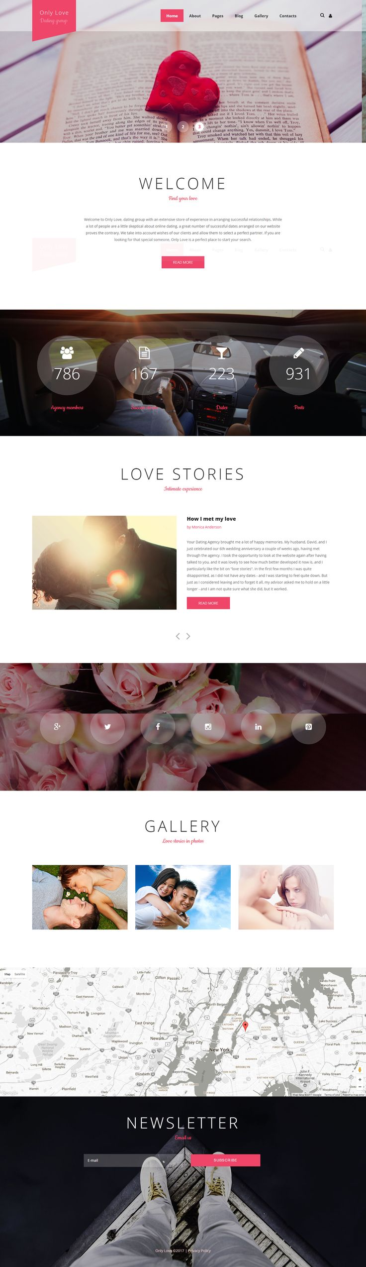 Dating Agency Joomla Template on Behance