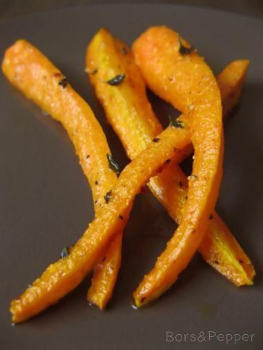 Bors: Illatos, füszeres sütöben sült sárgarépa