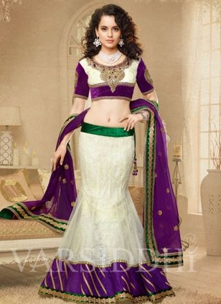 Stunning Dark Purple and Cream Choli 2003 http://www.angelnx.com/