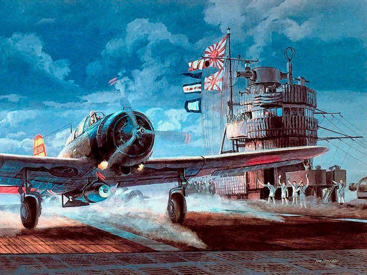 Las Cosicas del Panzer IJN Akagi durante el ataque de Pearl Harbor, 07 12 1941.