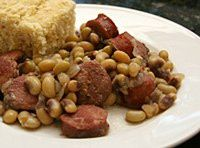 Purple Hull Peas and Sausage ~ You can substitute Black Eye Peas in this recipe.