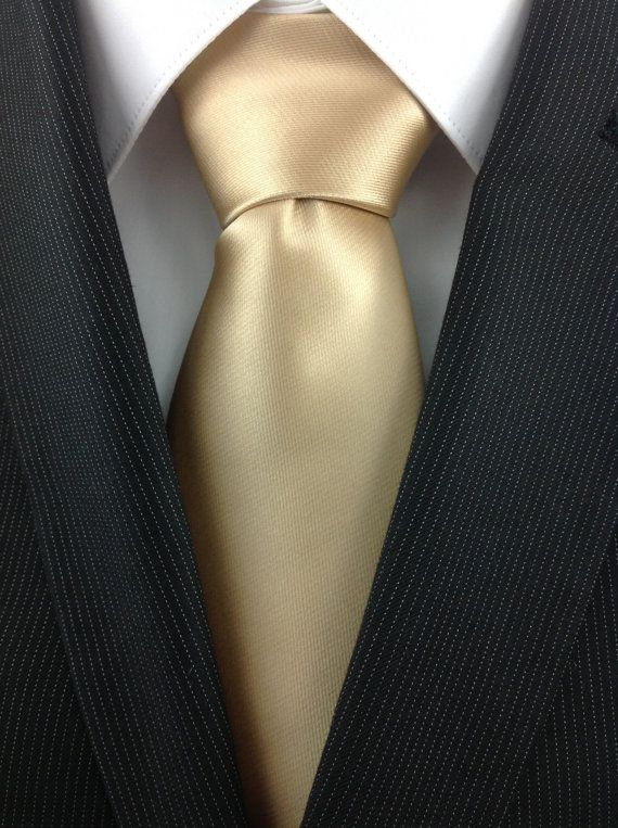 Natural Gold Necktie by TheNecktieShop on Etsy, $19.98