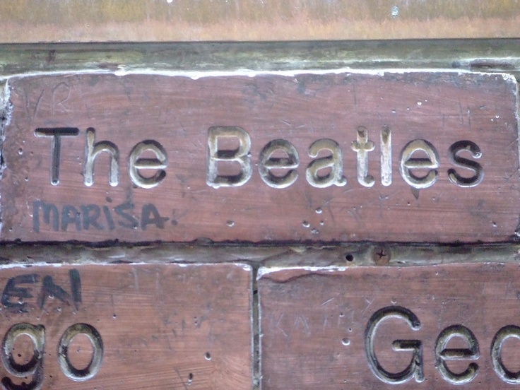 The Beatles Brick on the Cavern Wall of Fame in Mathew Street, Liverpool City Centre...  http://thebeatles-online.blogspot.com
