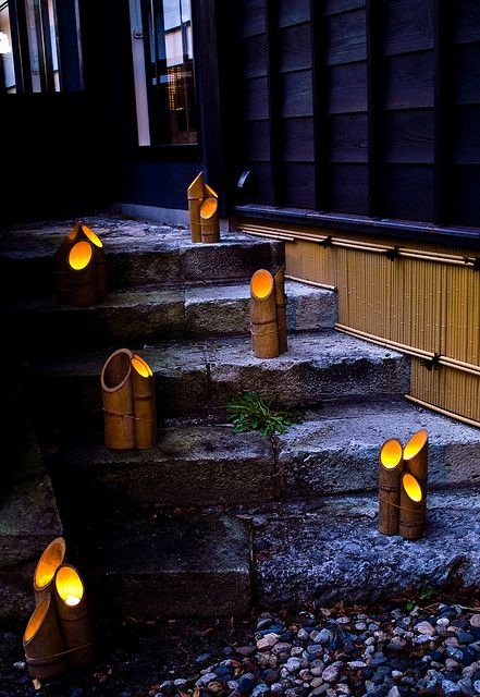 Bamboo Lantern Festival In Murakami Japan Japanese