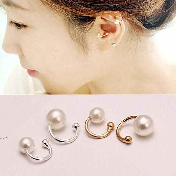 ES803 New Brincos Clip Earing boucle d'oreille Bijoux Pearls Ear Cuff Earrings For Women Wedding Earings Girl Jewelry Pendientes