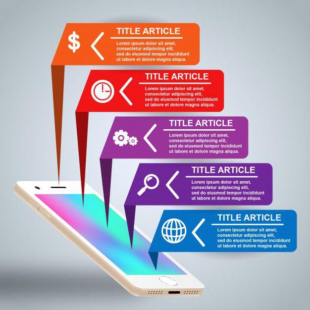 Smartphone Infographic Template Premium Vector