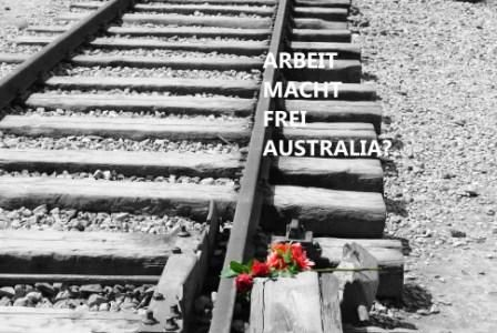 June 23, 2015 Image provided by the authorBy Keith Davis Already we have the Nazi slogan of 'Work Will Make You Free' splattered heavily across our social welfare landscape. 'Arbeit Macht Frei' … w... http://winstonclose.me/2015/06/23/resisting-the-tide-of-australian-extremism-if-we-dont-who-will-written-by-keith-davis-aimn/