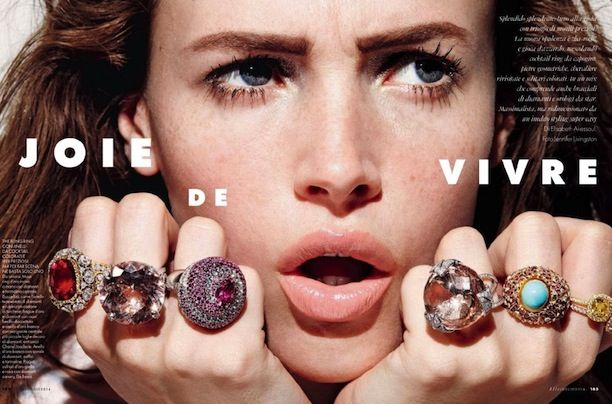 Statement Nail And Jewelry Inspiration From ELLE Italia via @WhoWhatWear