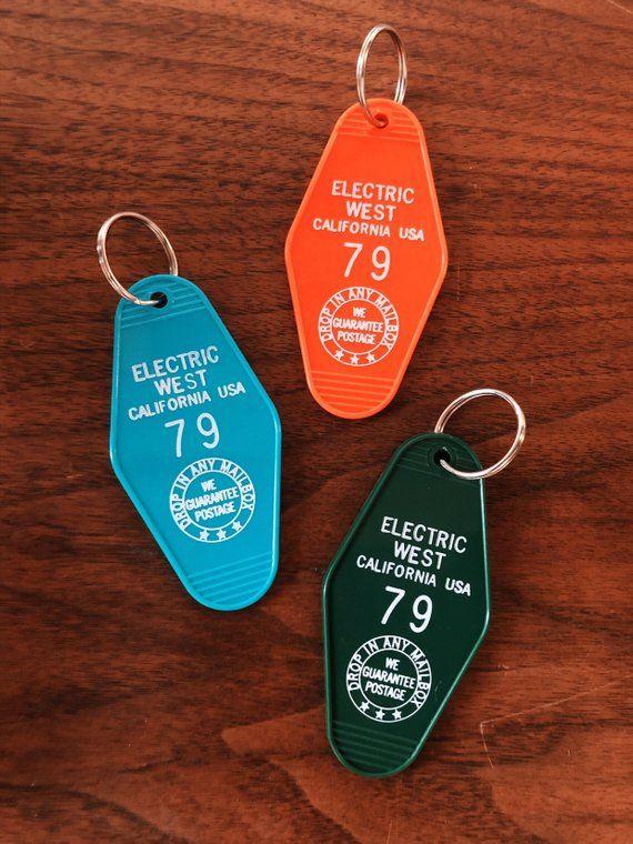 Electric West Retro Motel Key Tags Key Chain Vintage Key Etsy Key Keychain Keychain Key Tags