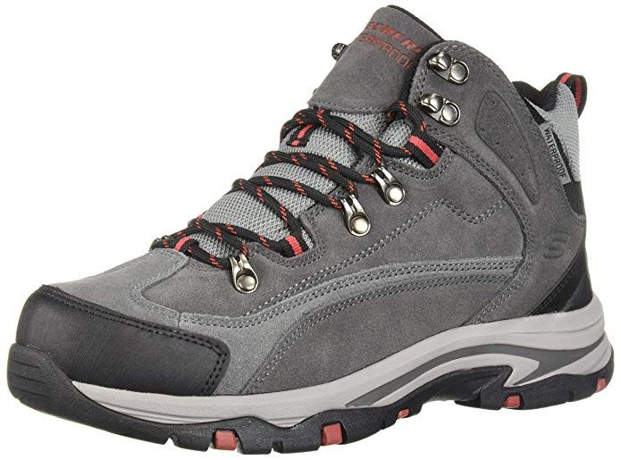 Skechers Men S Mid Suede Lace Up Boot Hiking Review Boots