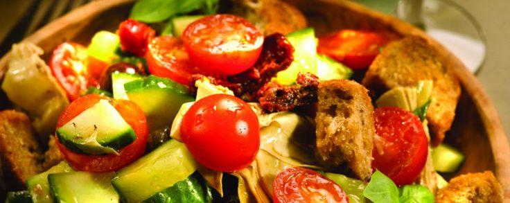 Italiaanse sla #amanprana #noblehouse #bio #gezond #natuurlijk #salade #italiaans #olijfolie #olie #olijf #hermanoscatalan #orac #botanicomix #spicy