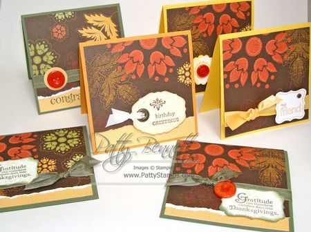 September 03, 2010    Autumn Spice Notecards    My FAVORITE new Designer Paper in the HOLIDAY MINI CATALOG is definitely the Autum Spice Specialty DSP.. it's very heavy weight and textured and the designs and patterns are gorgeous!!!