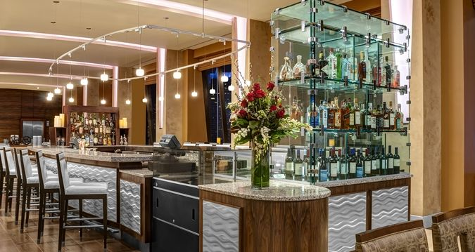 Hilton Times Square Hotel, New York, NY - Pinnacle Bar | NY 10036
