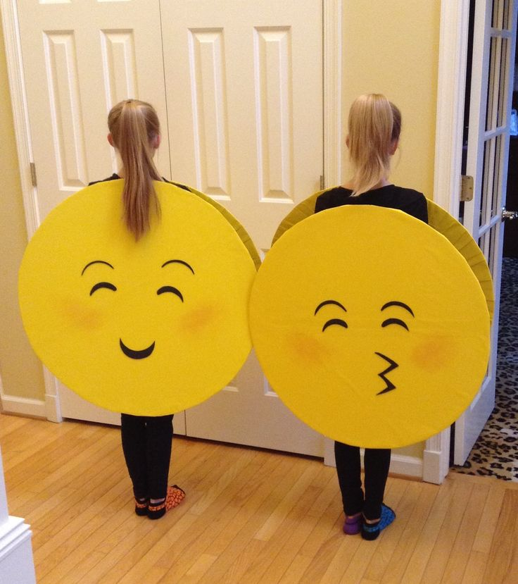 Emoji costumes (back).