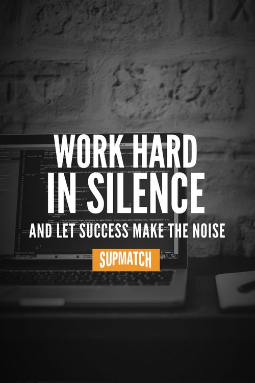 Work hard in silence and let success make the noise. Deine Fitness Motivation & Zitate. – mohammed ali