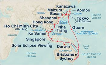 Princess China and Japan Cruise Maps