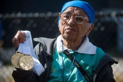 Online Business Operator: 100 year old Indian runner defies age to win gold ...