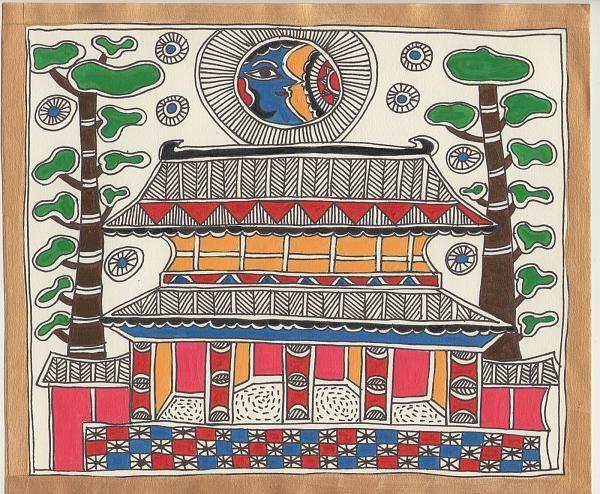 Indian Painting Styles...Madhubani/Mithila Painting (Bihar)-ra1.jpeg - black and white also available