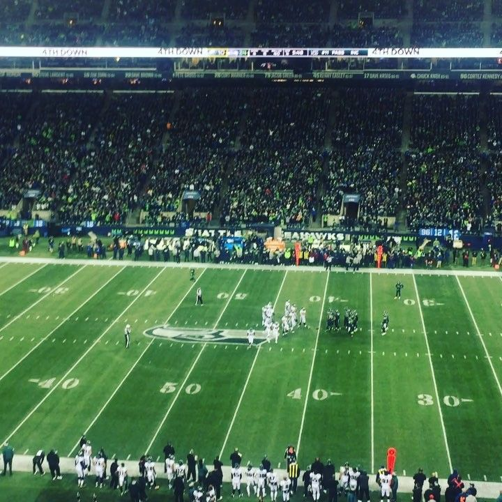 It really is that loud during a Seahawks game.  Wait till the end for the very sad Philadelphia Eagles fan.  He snuck into the Seahawks season ticket holders section.  Seahawks fans are so nice they let him stay and enjoyed his reaction.  #goseahawks @seahawks #hawksfan #philadelphiaeagles #bucketlist #bucketlist #travelwriter #travelwriting #firstnflgame #