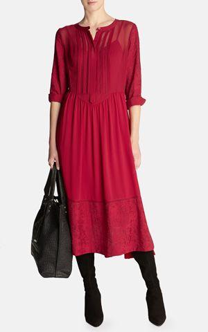 Feminine soft midi dress
