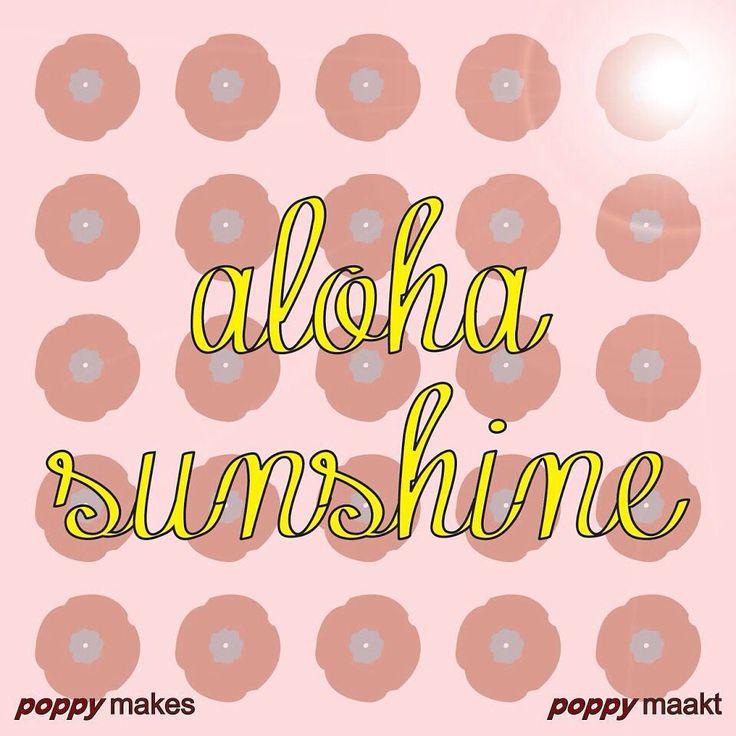 #poppymakes #poppymaakt #craft #knutselen #diy #summervacation #zomervakantie  #sun #zon #sunshine #zonneschijn #aloha #happy #vrolijk #weekend #followme #f4f #follow #instagood