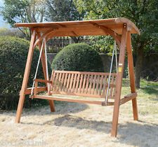 outdoor 3 seat swing with canopy | Patio Swing with Canopy