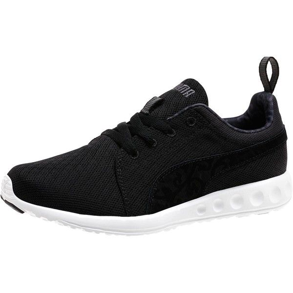 black and white puma running shoes