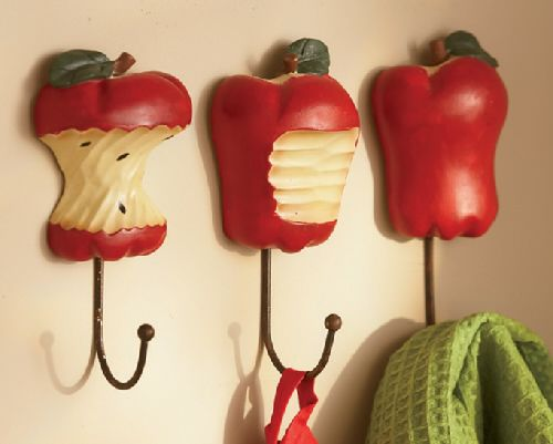 Apple Wall Kitchen Decor Hooks