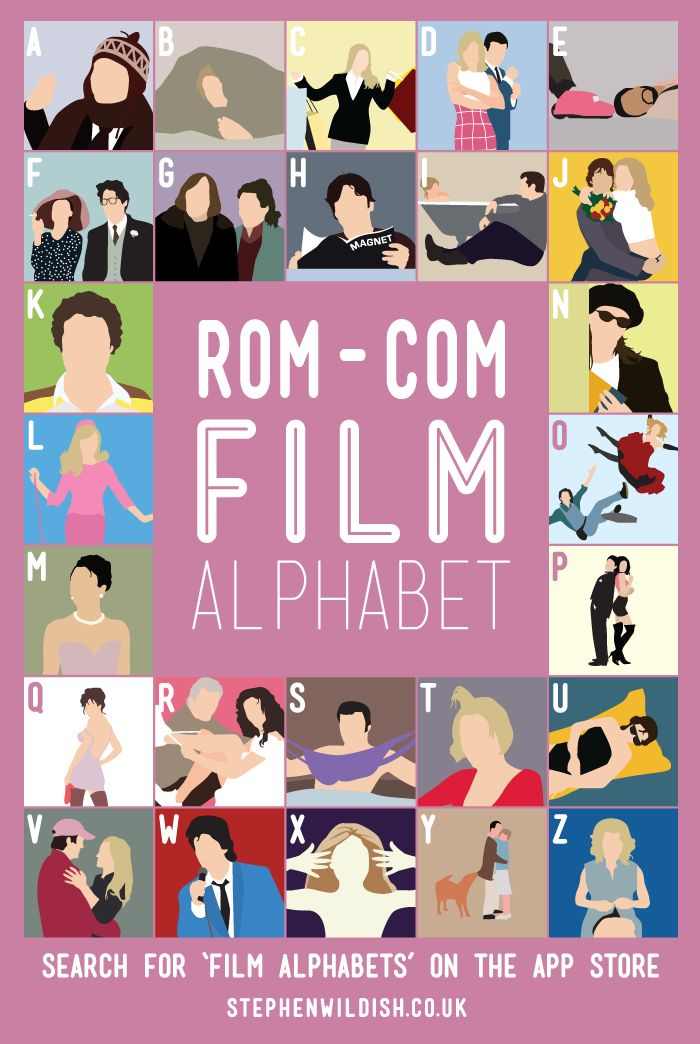 Rom-Com Film Alphabet Quiz by Stephen Wildish / Romantic Comedy movie knowledge / poster / trivia