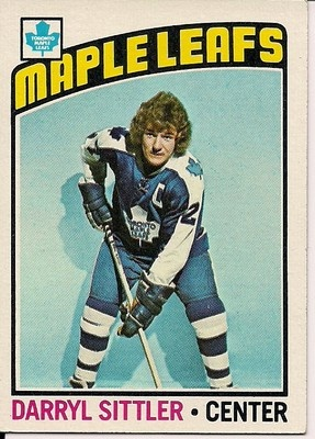 1976-77 Topps Darryl Sittler card. The Toronto Maple Leafs captain set a record the season before with 10 points in one game.