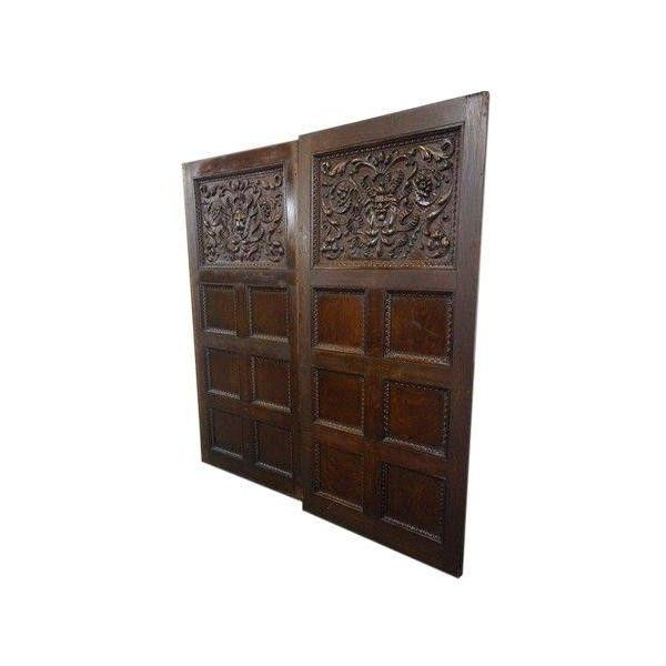 1880's Vanderbilt Hand Carved Oak Panels - Pair ($7,800) ❤ liked on Polyvore featuring home, home decor, wall art, decor, hand carved wall art, parking signs, new york parking signs, cross home decor and new york sign
