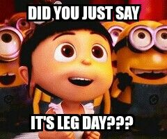 I love leg day, and then afterwards I pay for it haha