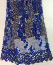 Freies shippingSYL224 (1) heißer verkauf indische stickerei schnürsenkel net afrikanische französisch spitze stoff mit steinen und perlen für hochzeit kleid(China (Mainland))