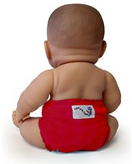 So cute!  I had no idea!  Cloth doll diapers, so that your child can imitate you!  :)