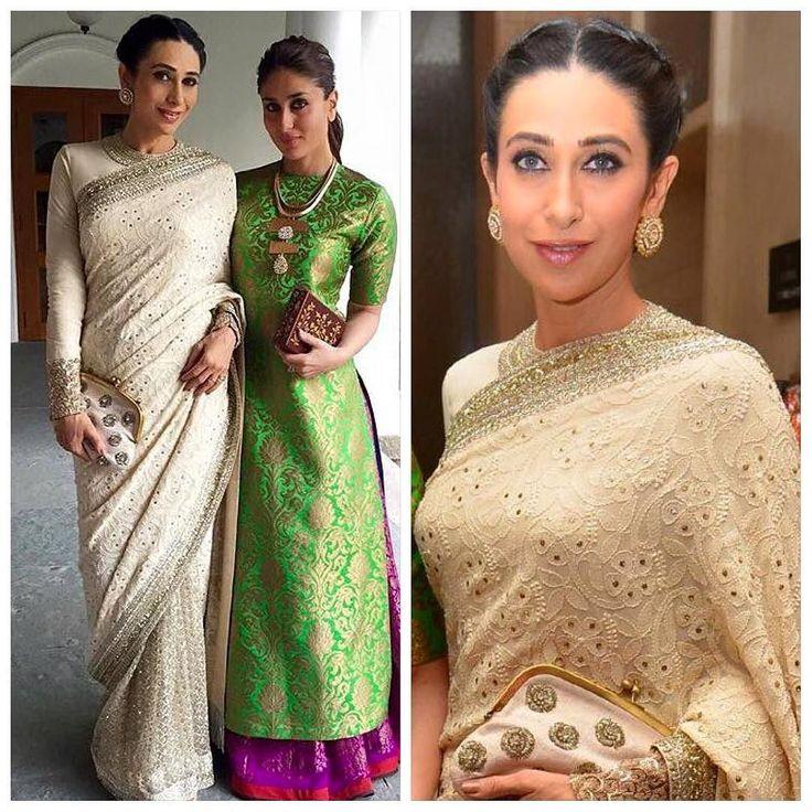 #SabyasachiMukherjee #Sabyasachi #Sari #Chikan #TheSabyasachiSari #Exquisite #Decadent #Colour #ThreadWork #Embellished #HandCraftedInIndia #TheWorldOfSabyasachi #Maharani #Bollywood #Actress #Ethereal #Elegance #Regal #Royal #Divine #Glamour @therealkarismakapoor #KarismaKapoor #Earrings @kishandasjewellery #KishandasForSabyasachi #StyledBy @tanghavri #TanyaGhavri #ClutchBySabyasachi #InternationlChildrensFilmFestival