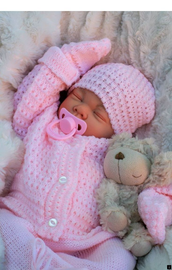 """22/"""" Bebe Reborn Baby Girl Doll Clothes Newborn clothing set Not Included Doll US"""