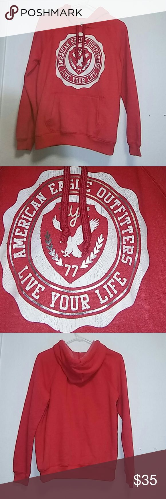 American Eagle Outfitter Men's Red Hoodie Sz M American Eagle Outfitter Men's Red Hoodie Sz M American Eagle Outfitters Shirts Sweatshirts & Hoodies