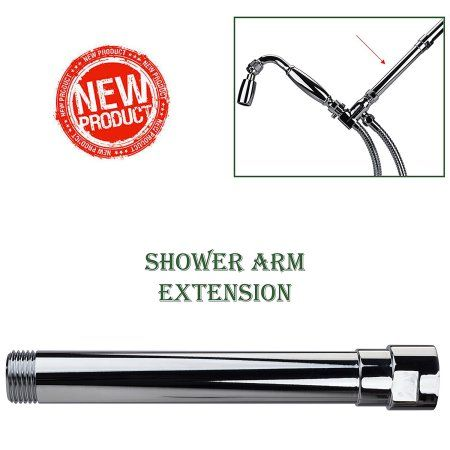 High Sierra Showerheads® Exclusive All-Metal Shower Arm Extension- Lowers Existing Shower Head/ Handheld Shower Unit: Polished Chrome, Silver