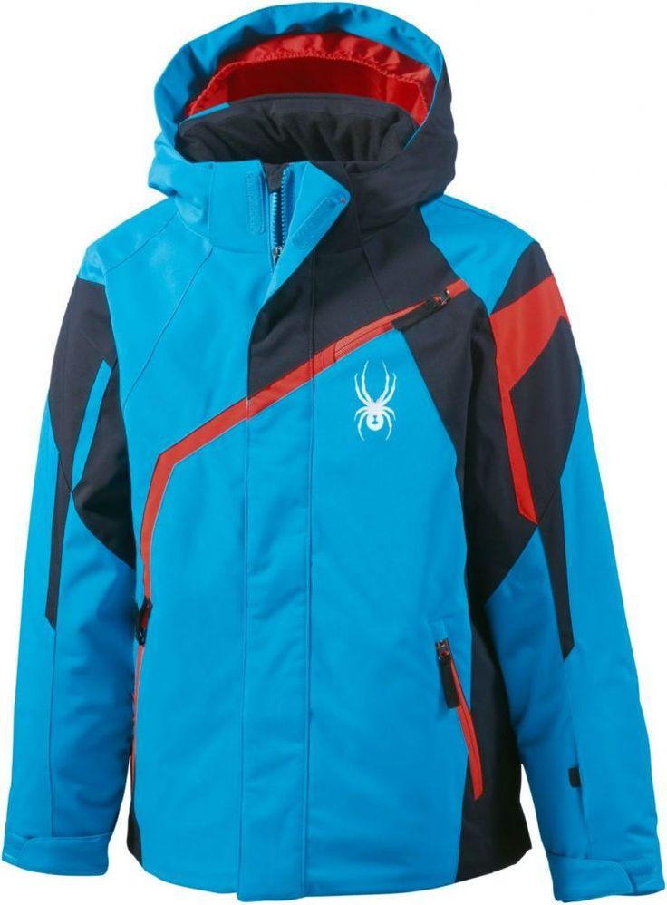 #Spyder #Skijacke #Jungen #blau/schwarz/rot